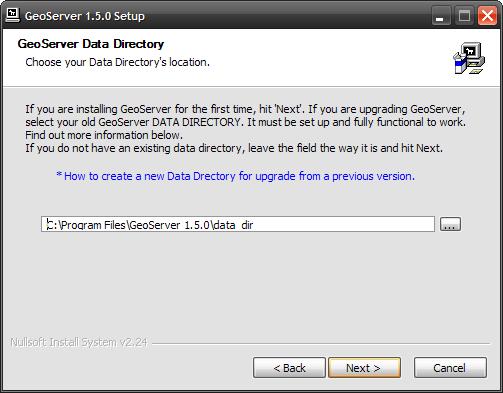 Setando GeoServer Data Directory